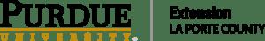 purdue university la porte count extension service logo